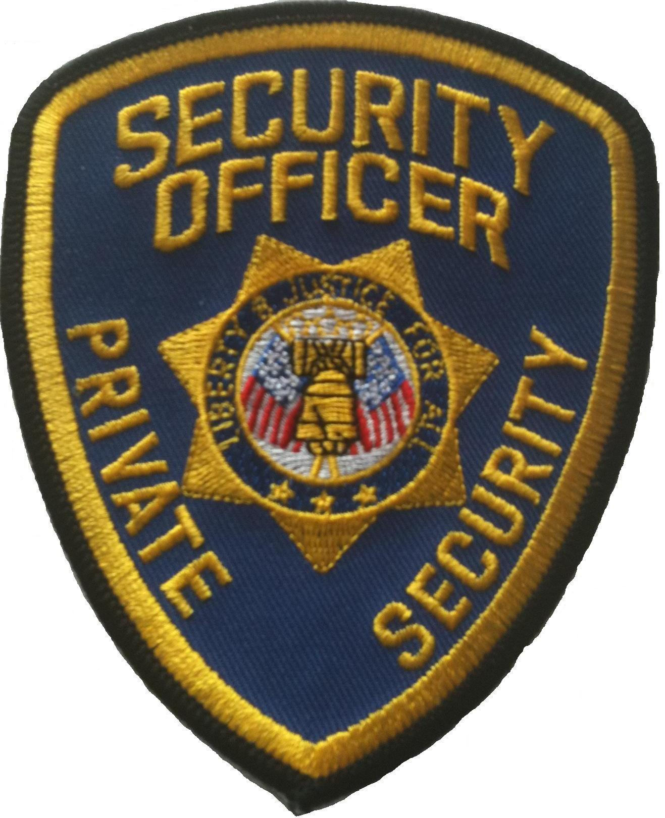 SECURITY OFFICER PRIVATE SECURITY / GOLD ON BLUE