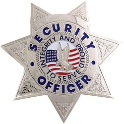 SECURITY OFFICER 7 POINT STAR SILVER