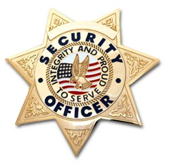 SECURITY OFFICER 7 POINT STAR GOLD