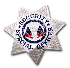 SECURITY SPECIAL OFFICER 7 POINT STAR SILVER