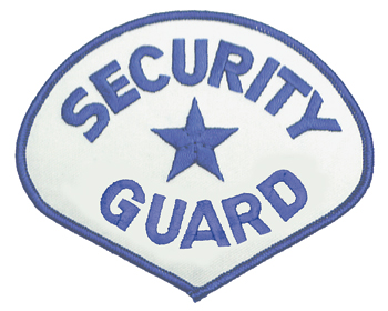 SECURITY GUARD PATCH / BLUE ON WHITE