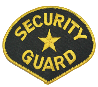 SECURITY GUARD PATCH / GOLD ON BLACK