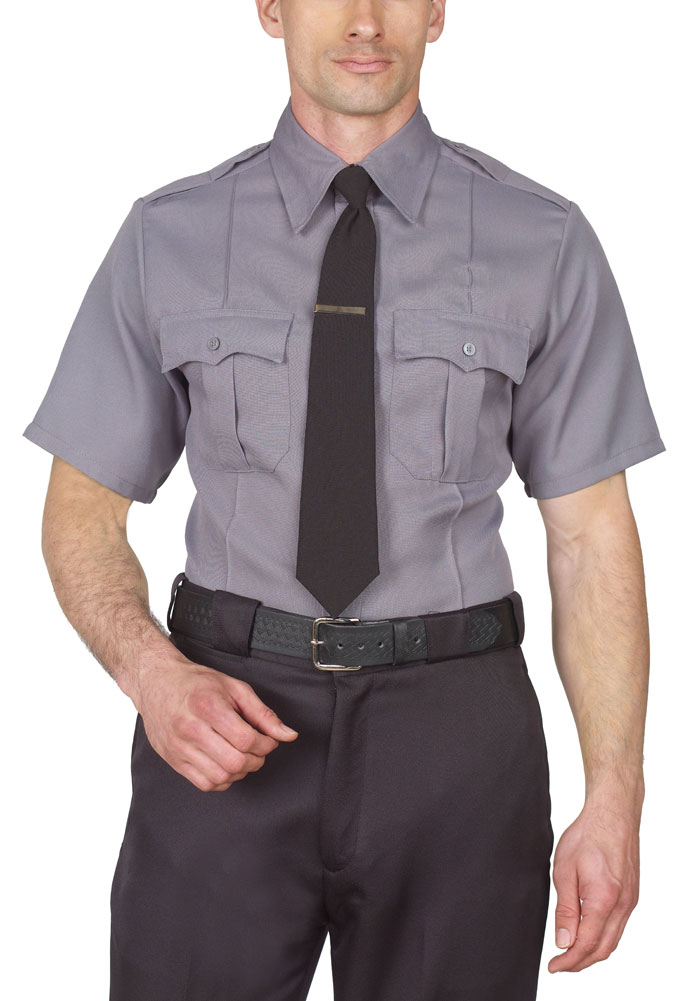 GREY SECURITY SHIRT SHORT SLEEVE 100% POLYESTER